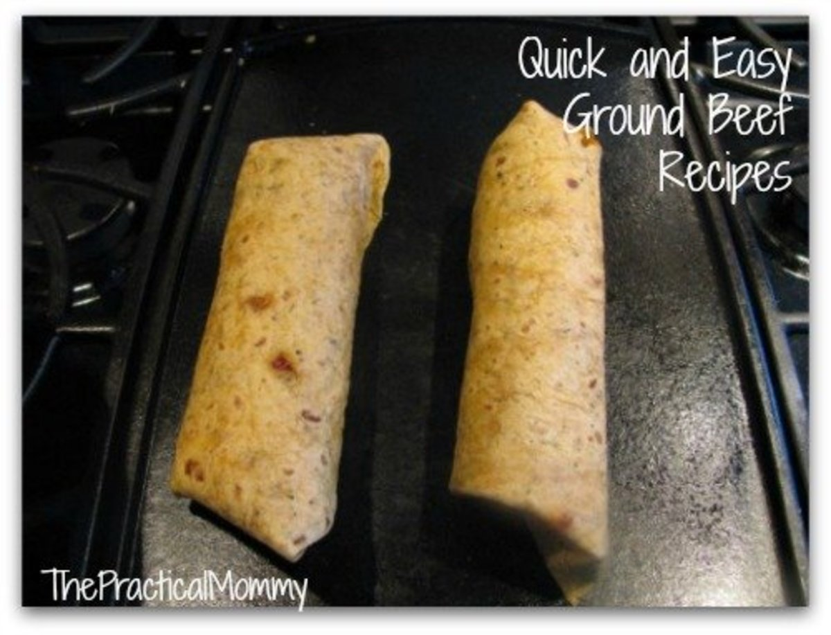 Easy Recipes With Ground Beef: Burritos & Chili