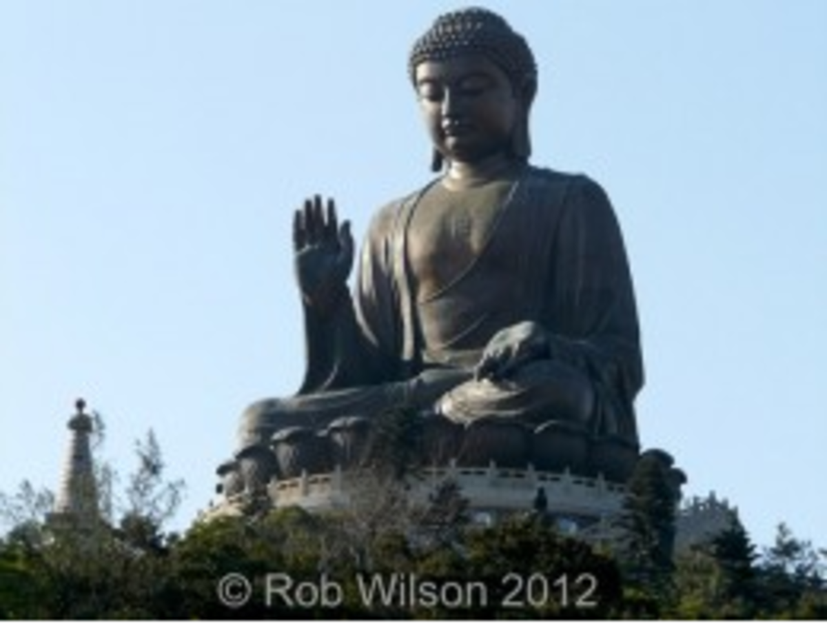 The Tian Tan or Big Buddha, one of Hong Kong's premier tourist attractions.