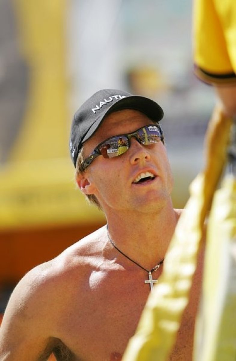 Professional volleyball players prefer polarized sunglasses to reduce glare from sun and sand.