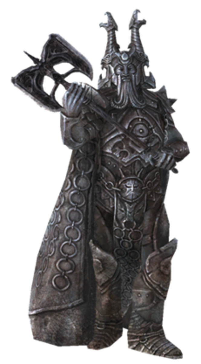 Ysgramor. One of the Nedes who first settled in Skyrim. He was the first Nede historian. Leader of the 500 companions that settled and established the Nords in Skyrim.