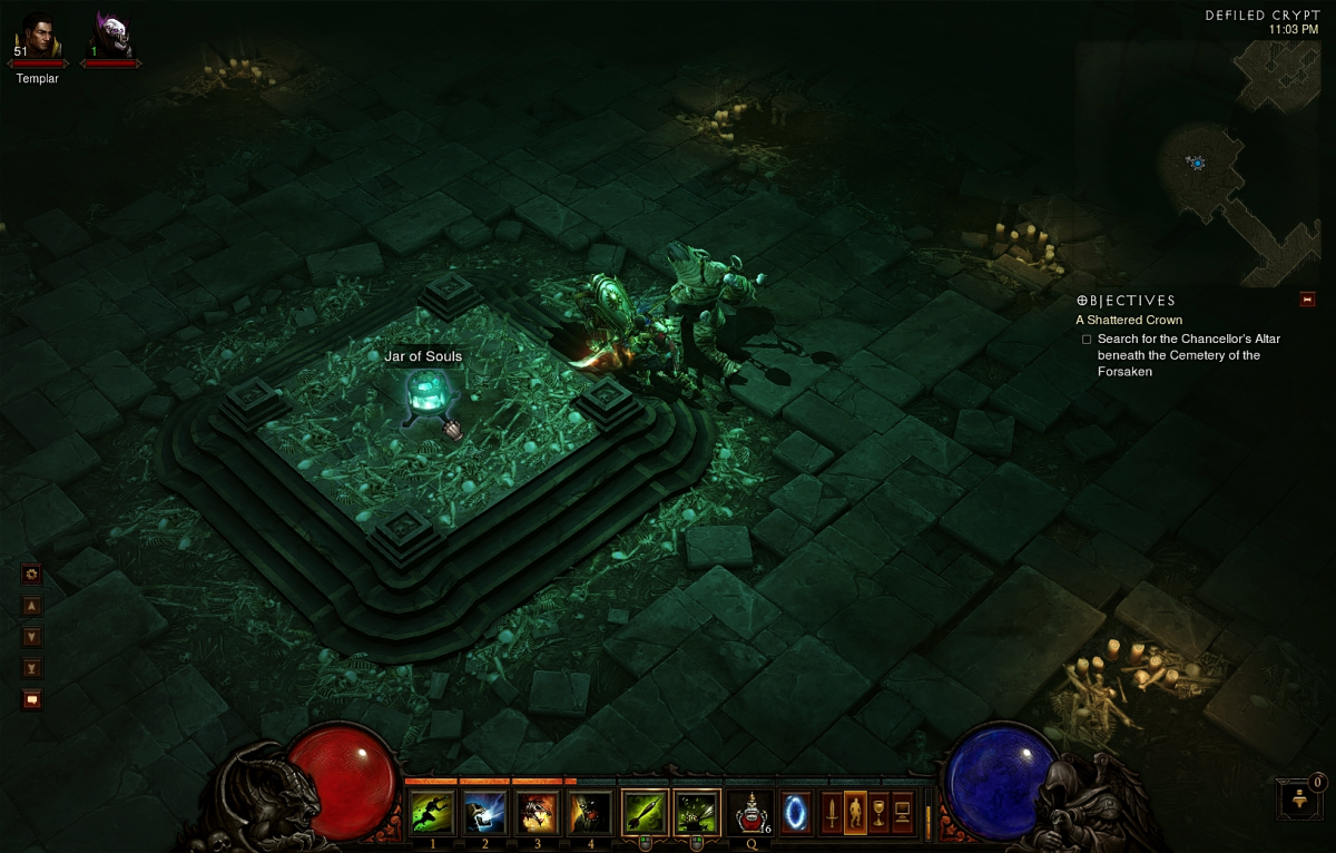 The device the starts the Jar of Souls event, found in the Defiled Crypts.