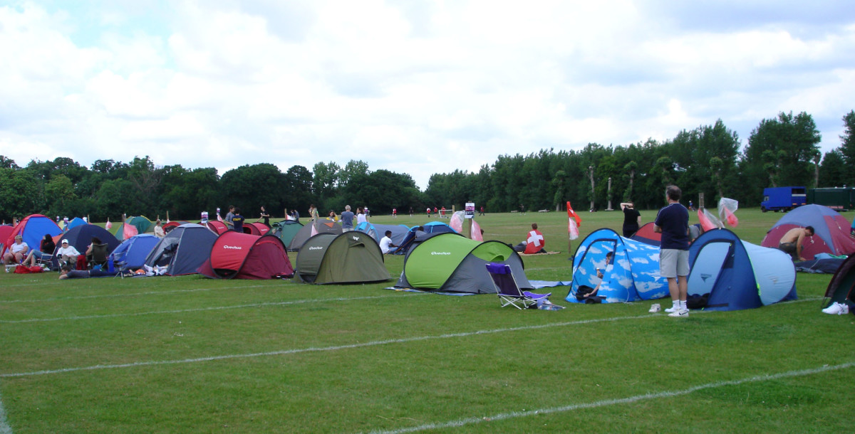 The camp in Wimbledon Park