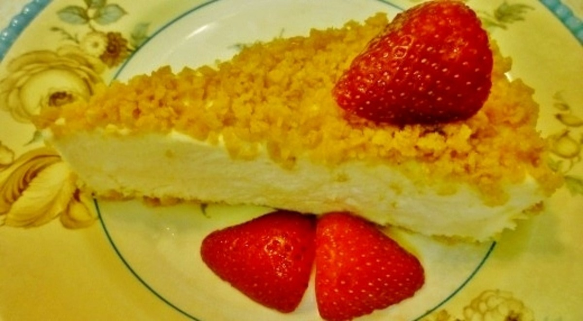 Refrigerator Cheese Torte.  Wish you could have a slice right now!