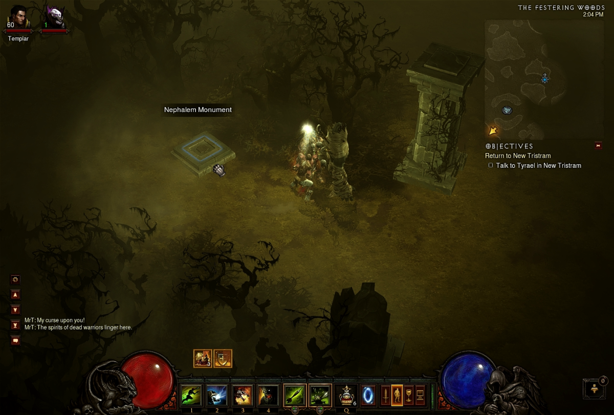The Nephalem Monument that activates the event.