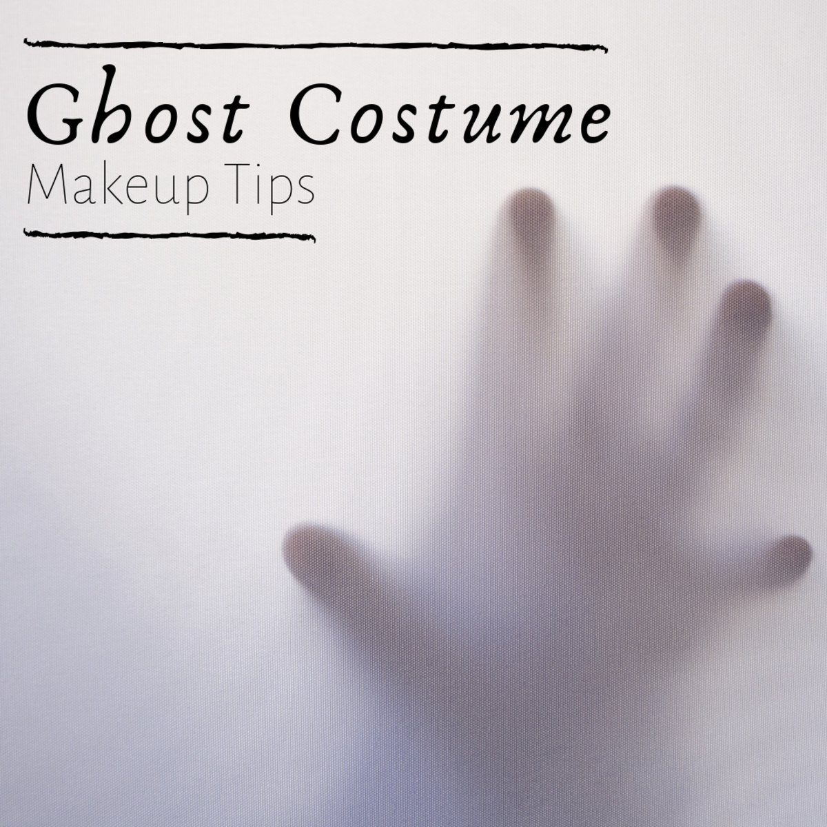Learn how to take your ghost costume up a notch with creepy makeup.