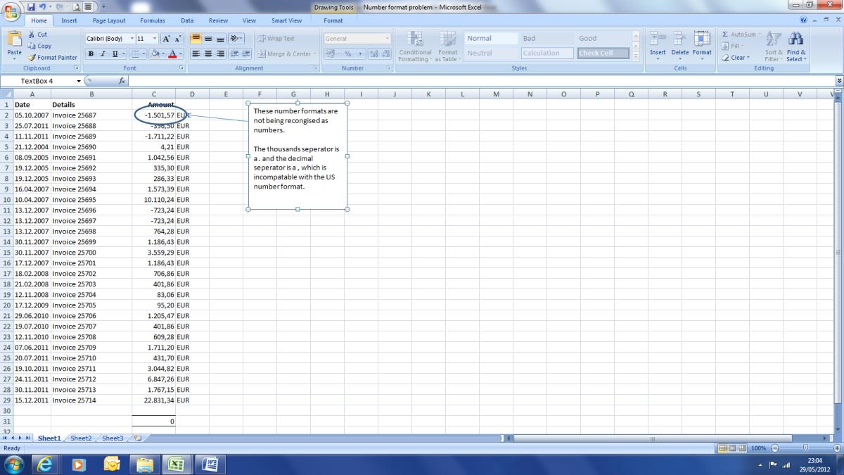 Excel Number Format Problem