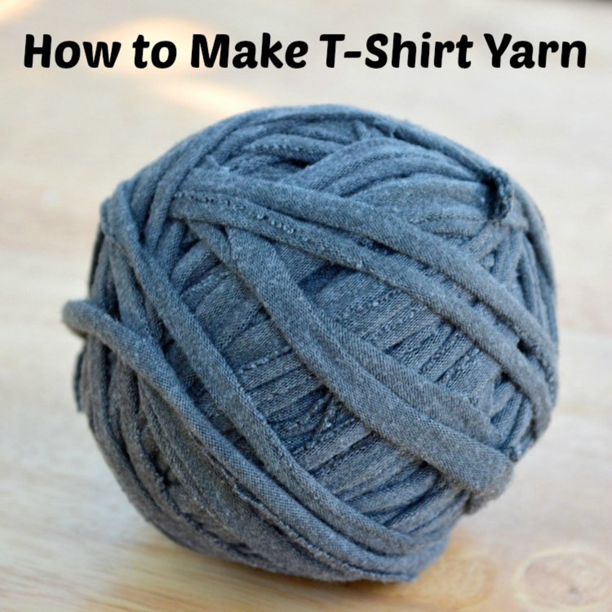 How to Make T-Shirt Yarn for Knitting or Crafts