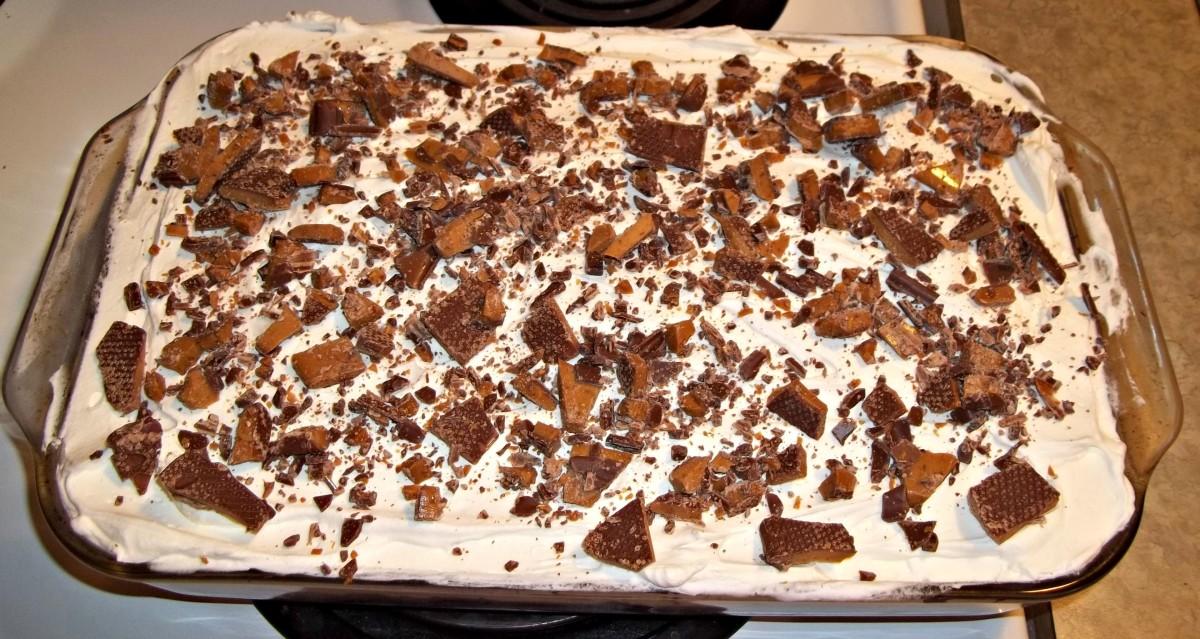 Skor Candy Bar Cake Recipe