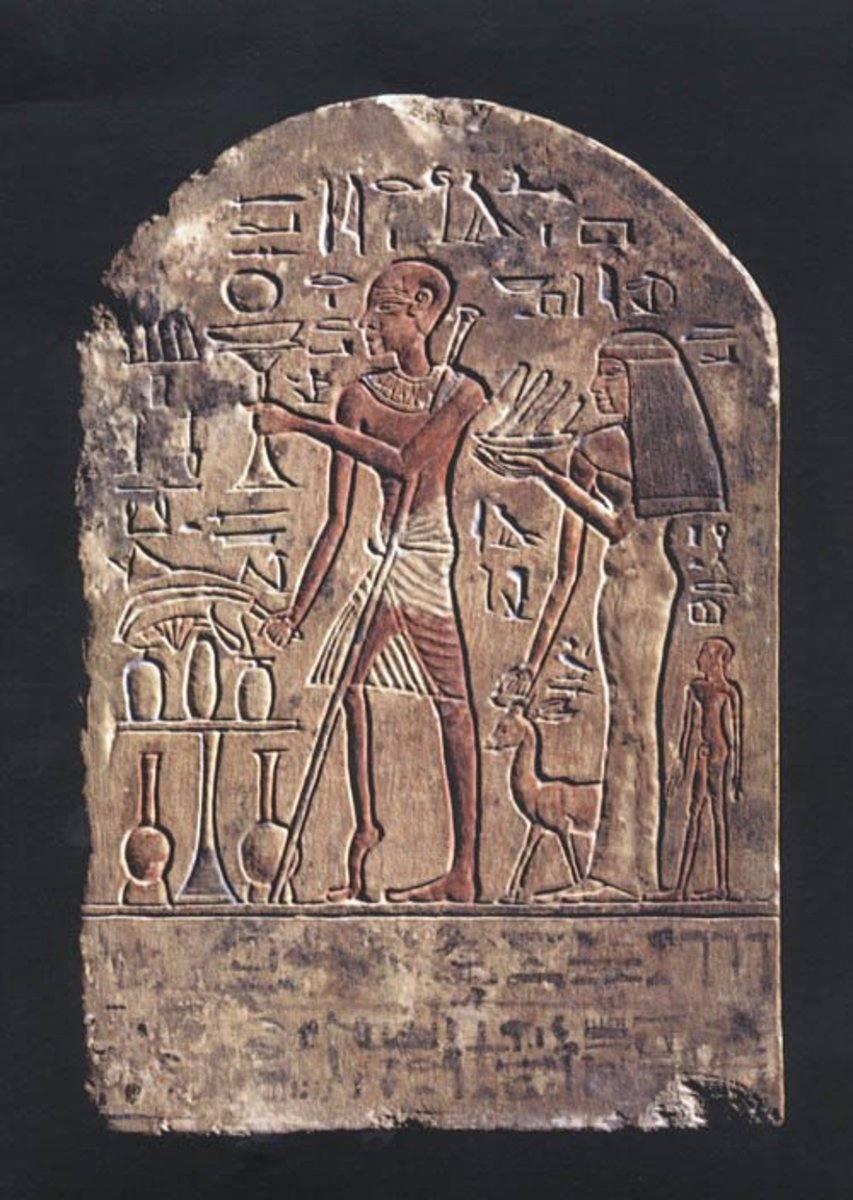 This ancient Egyptian stele shows a man with a shriveled leg and foot positioned as they would be if polio destroyed motor nerves.
