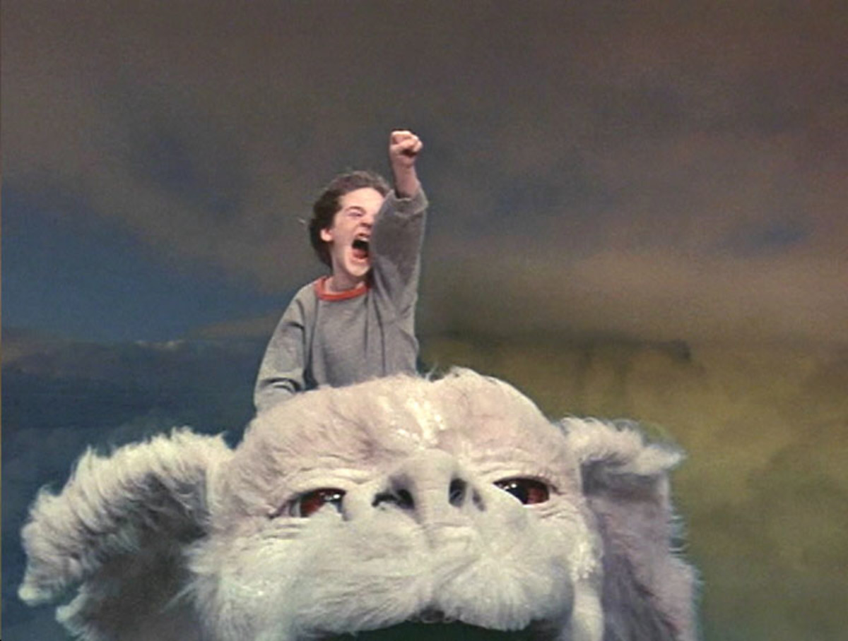Bastian Balthazar Bux and Falkor the Luck Dragon from The Neverending Story