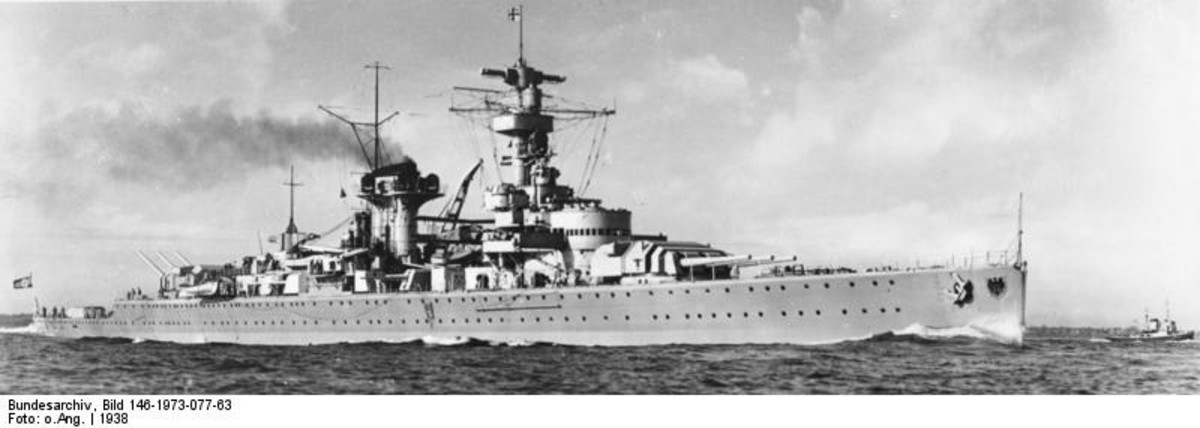 "WW2: The heavy cruiser ""Lutzow""."
