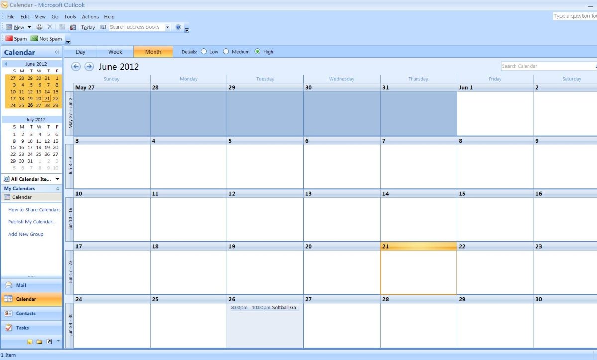 How to Import a Calendar From Excel to Outlook