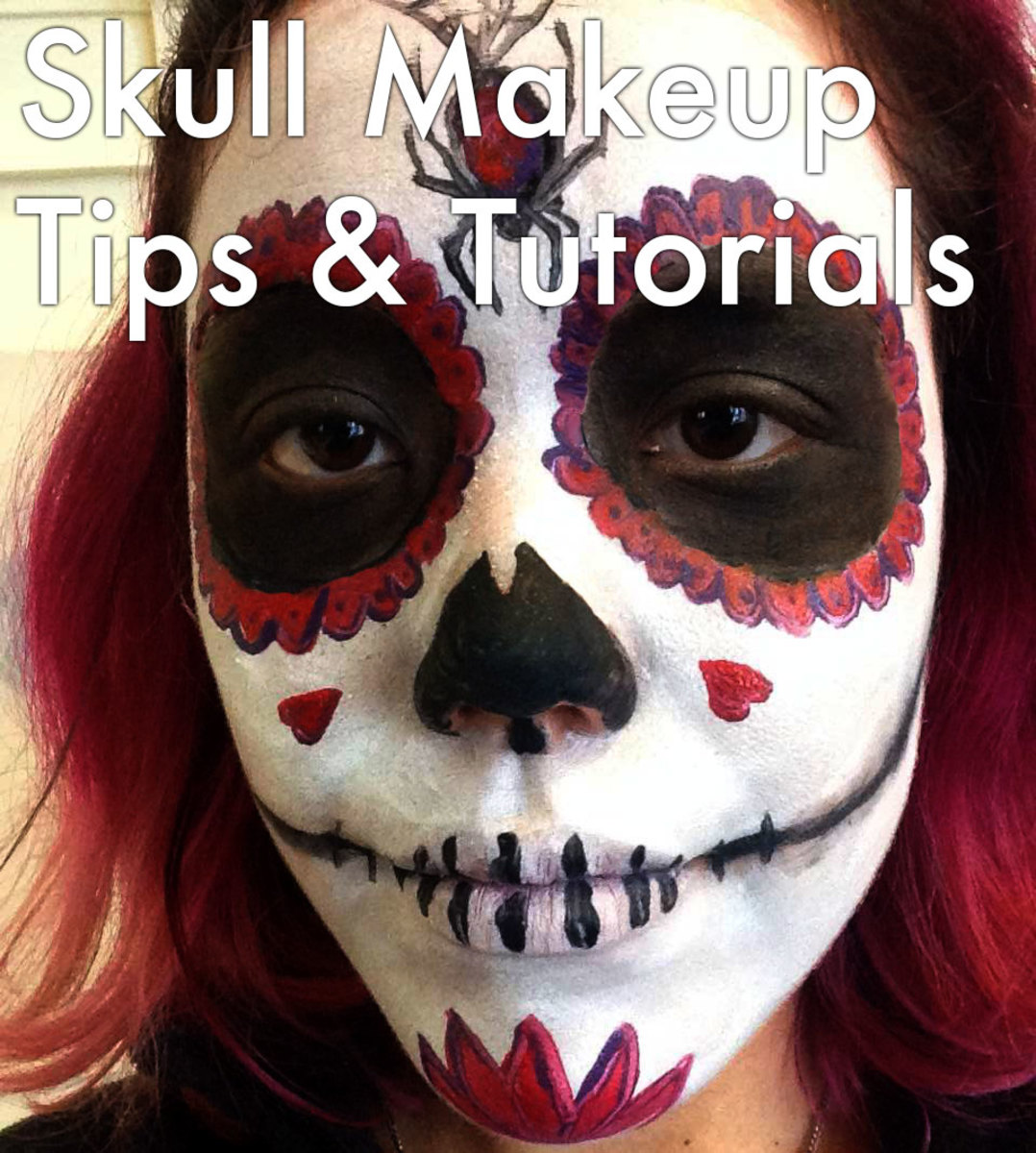 Skull makeup tips and tutorials.
