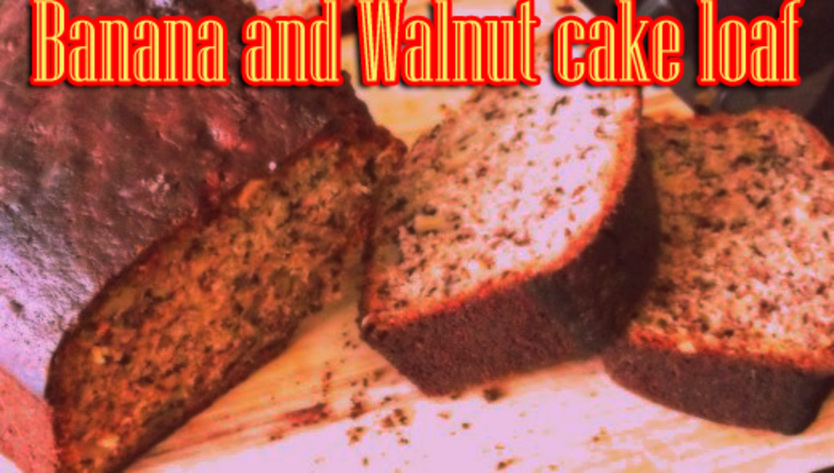 Banana and walnut lof cake recipe for a quick treat