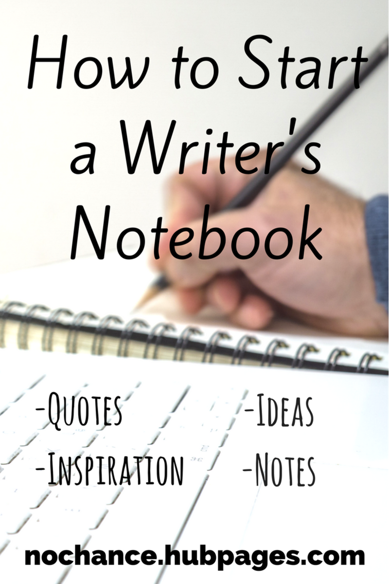 A writer's notebook is a great resource to keep track of everything that inspires you.