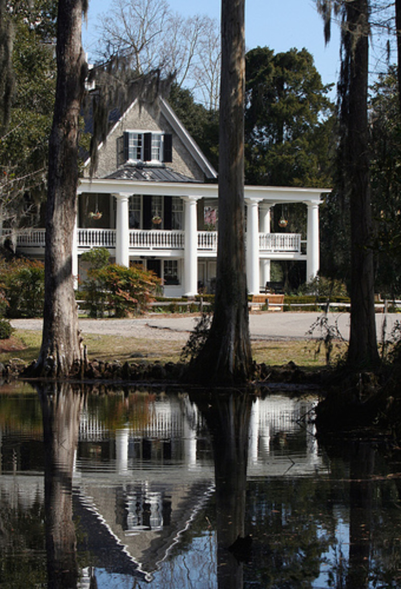 The house at Magnolia Plantation