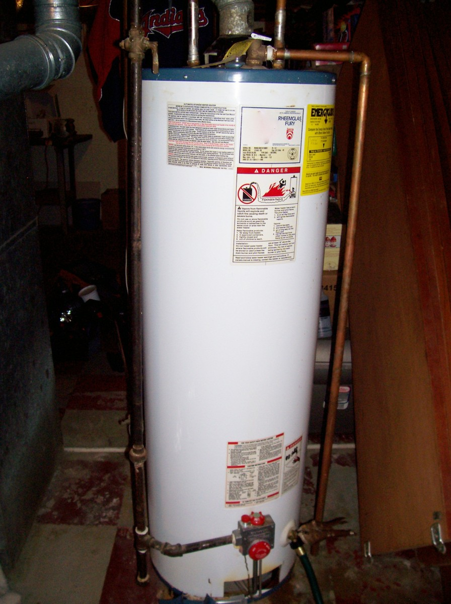 What should you do if your hot water heater is leaking?