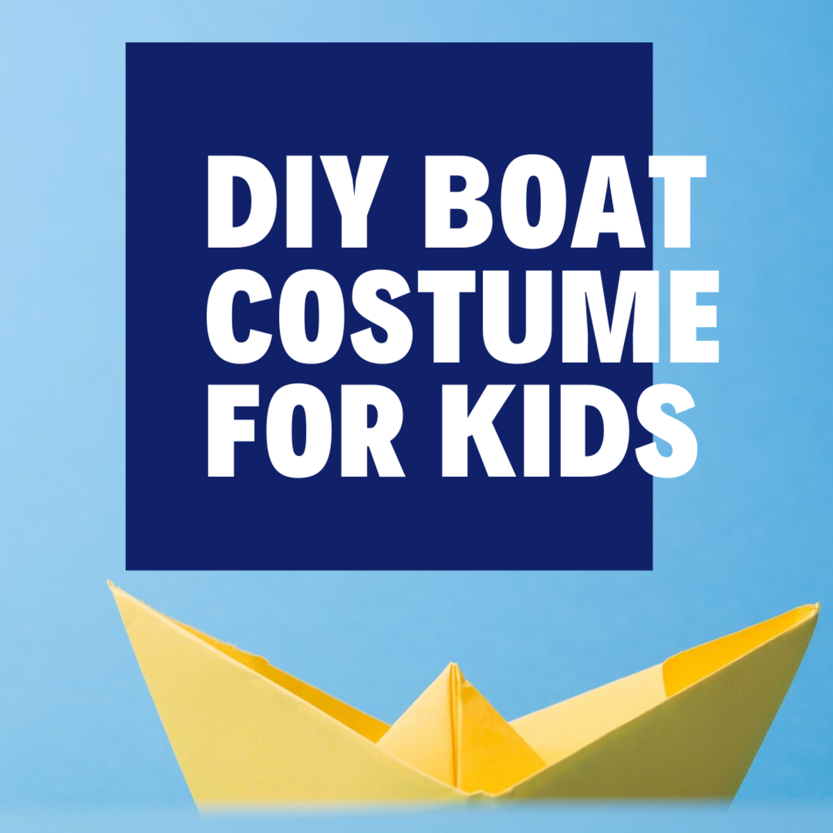 DIY Boat Costume for Kids