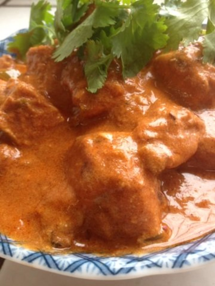 How to make healthy and low-fat version of chicken tikka masala.