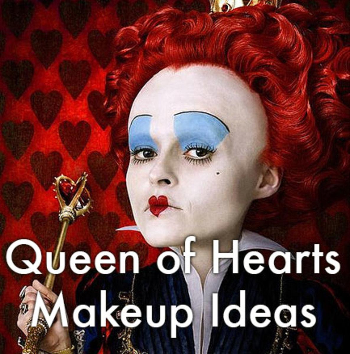 Makeup ideas and tutorials for Tim Burton's Queen of Hearts