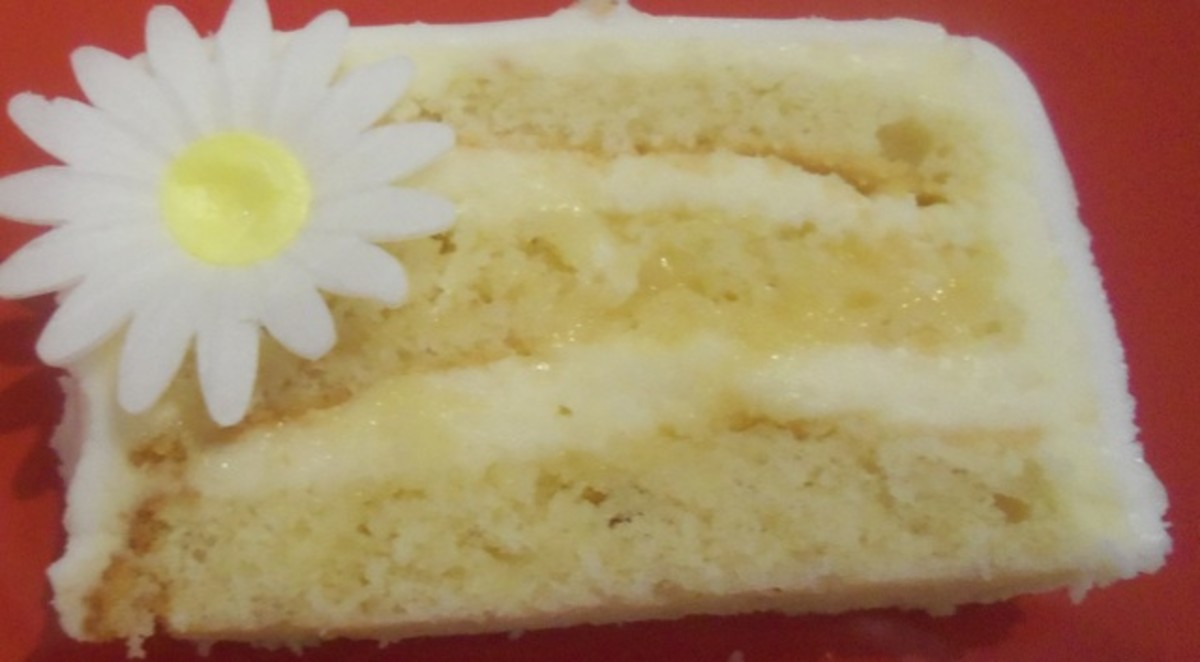 Lemon Layer Cake With Lemon Curd and Buttercream Recipe