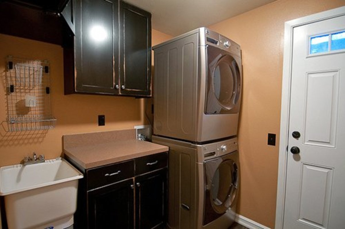 A fresh new laundry room makes a common household chore much more bearable!