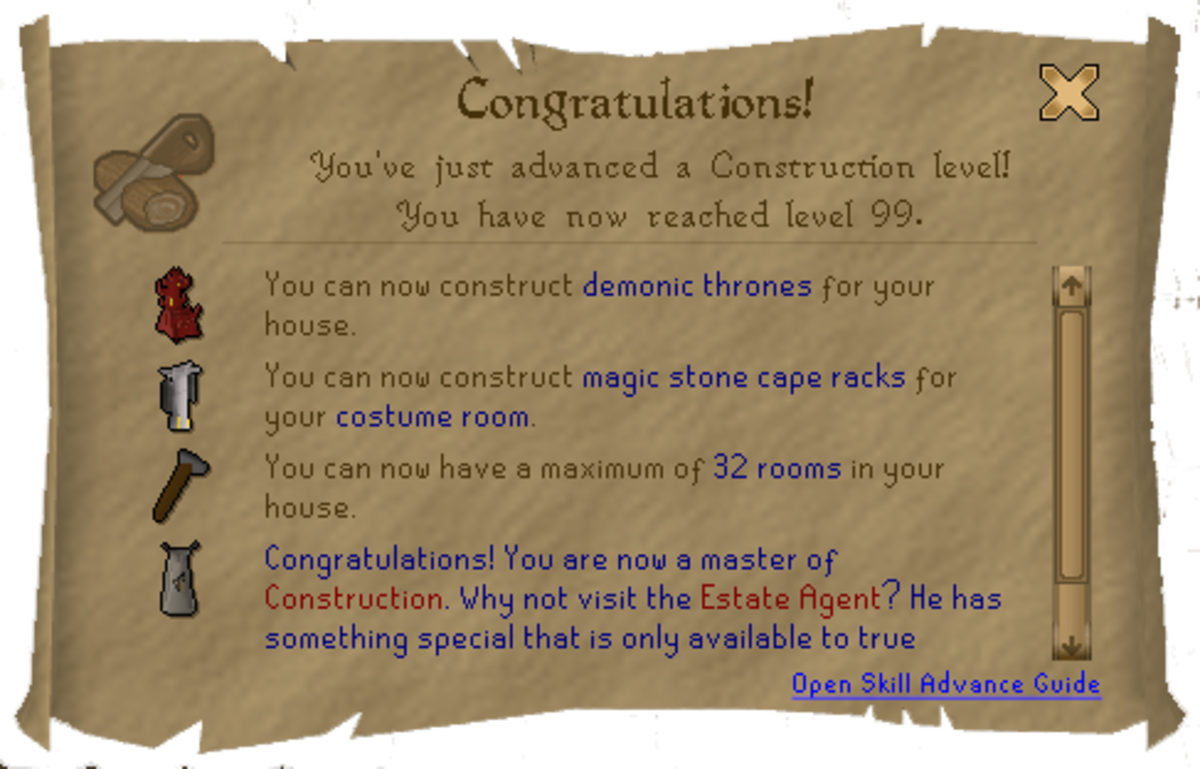 Runescape 99 Construction Guide