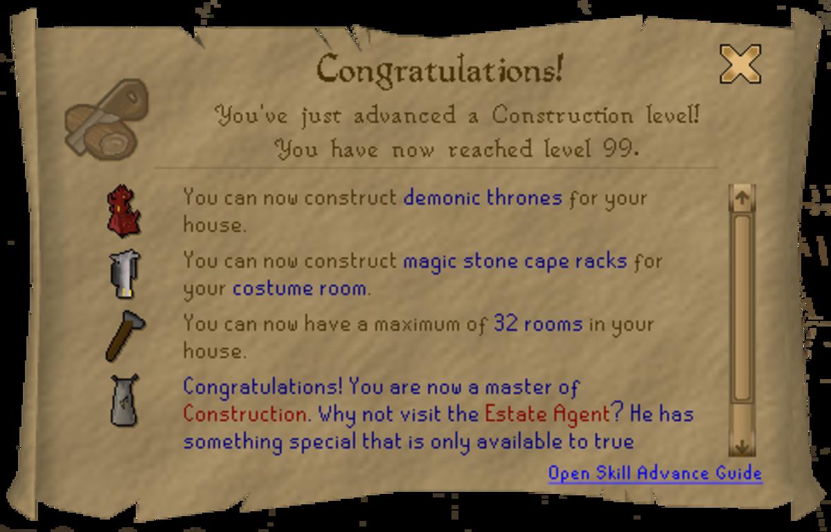 Runescape 99 Construction Guide