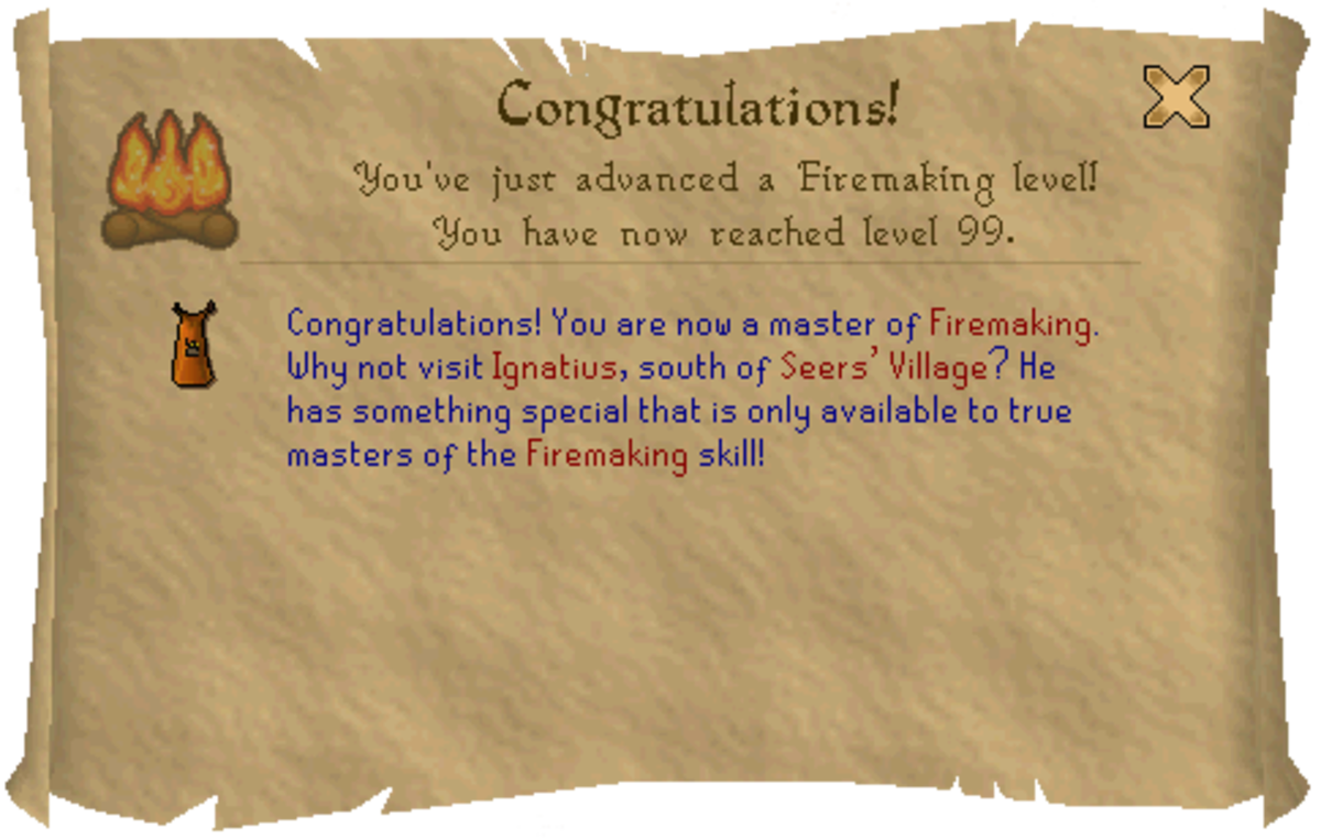 Get advice on reaching level 99 in Firemaking the quick and easy way.