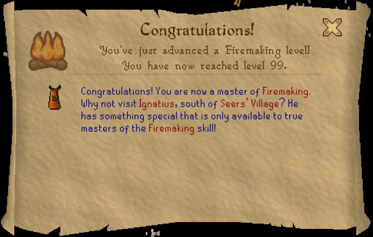 Runescape 99 Firemaking Guide