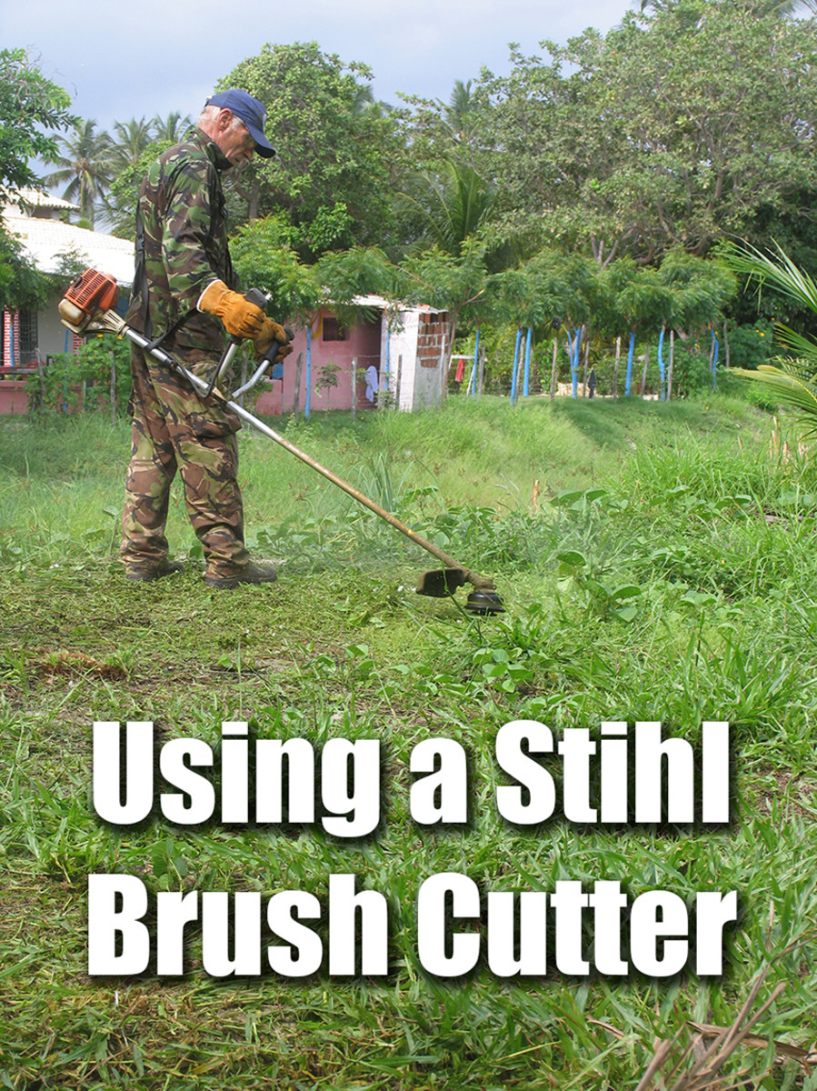 Using a Stihl Brush Cutter