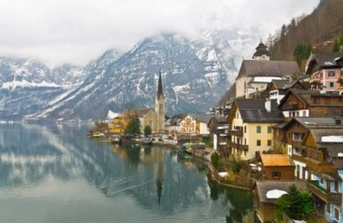 The picture-perfect town of Hallstatt in Austria