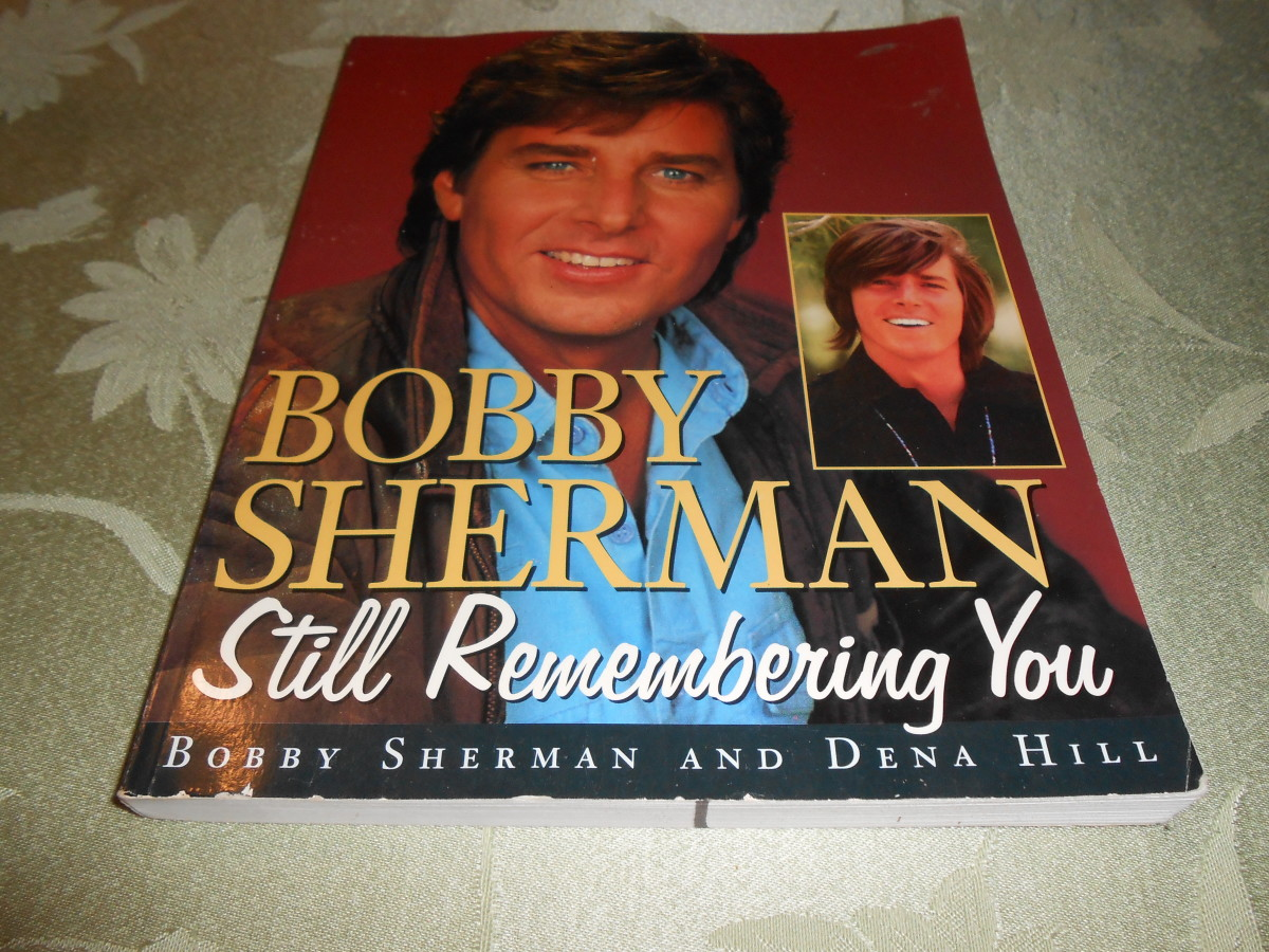 "Bobby Sherman on the cover of his book, ""Still Remembering You."" I? read this book from cover to cover in less than 24 hours! I couldn't put it down!"