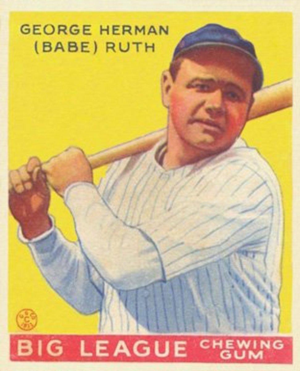 Babe Ruth's 1933 Goudey Baseball Card