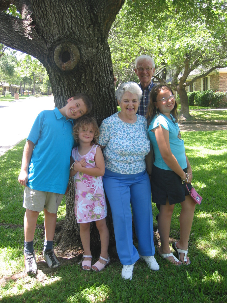 Illustrate how caring for grandparents affects a family.