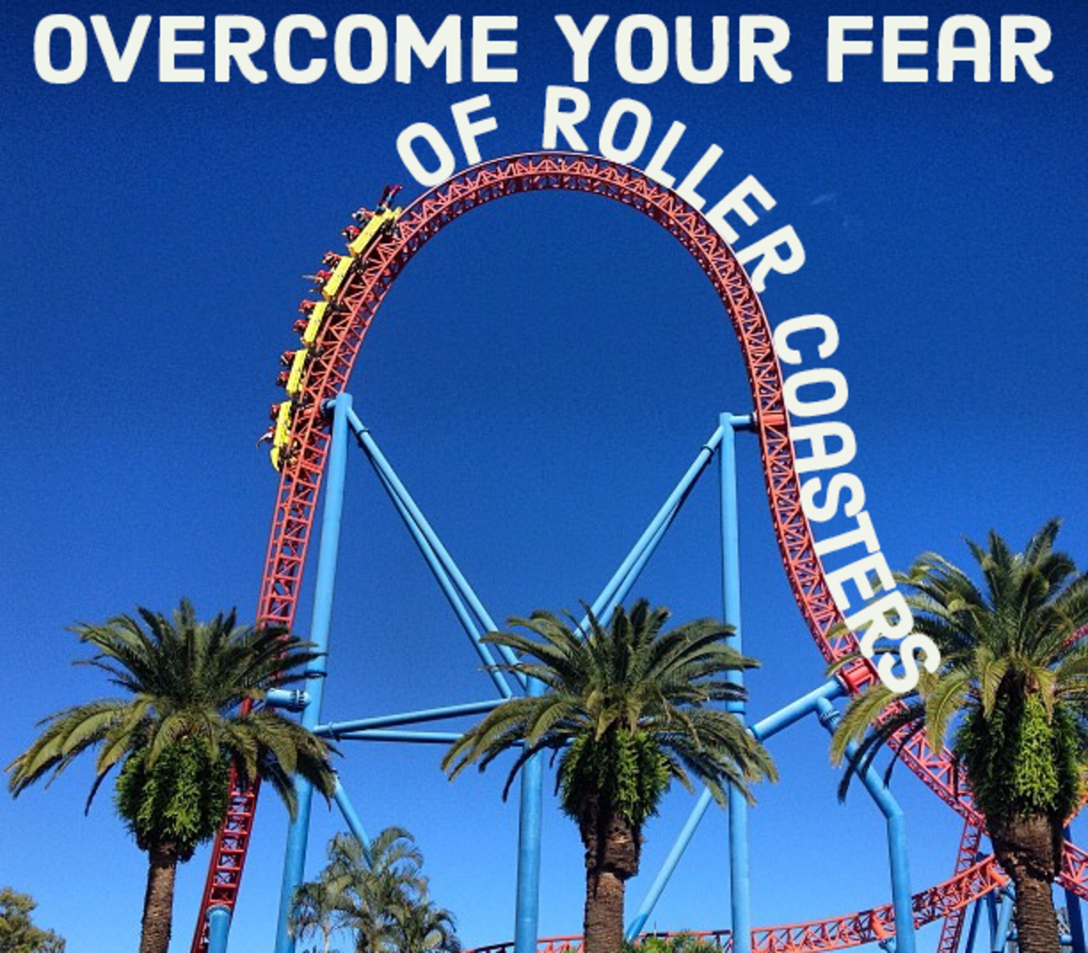 How to overcome your fear of roller coasters. Here is the Superman Escape in Oxenford, Australia.