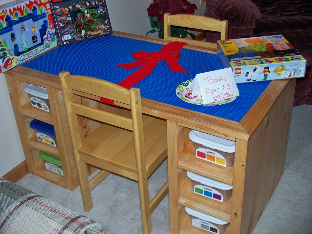 how to make a lego table out of wood. Black Bedroom Furniture Sets. Home Design Ideas