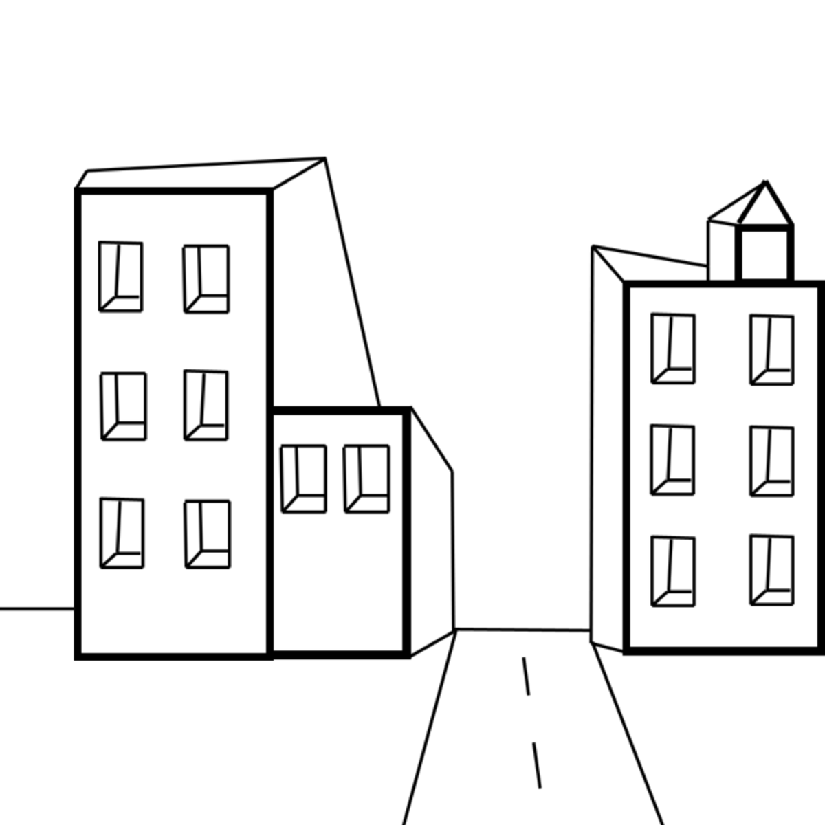 Simple Single Point Perspective Drawing
