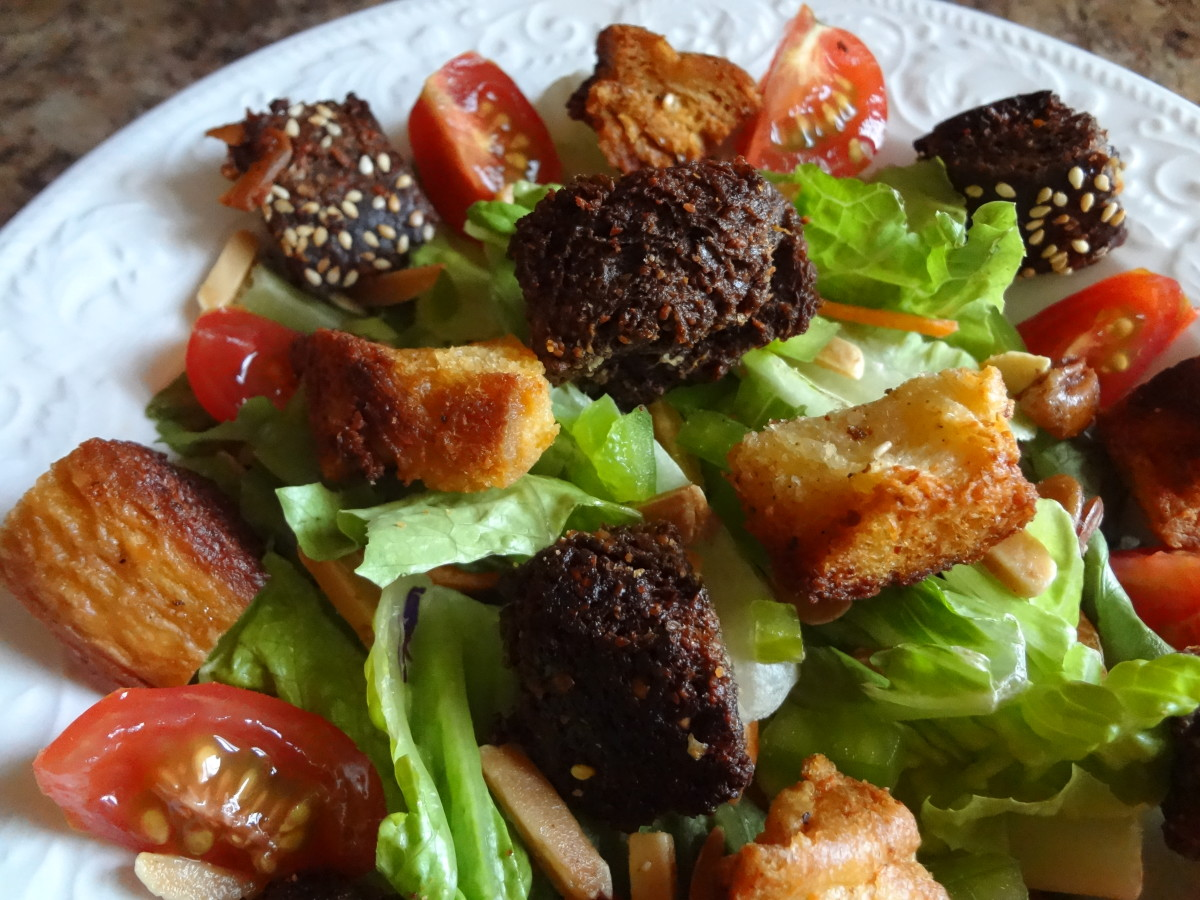 Croutons make salads more appealing.
