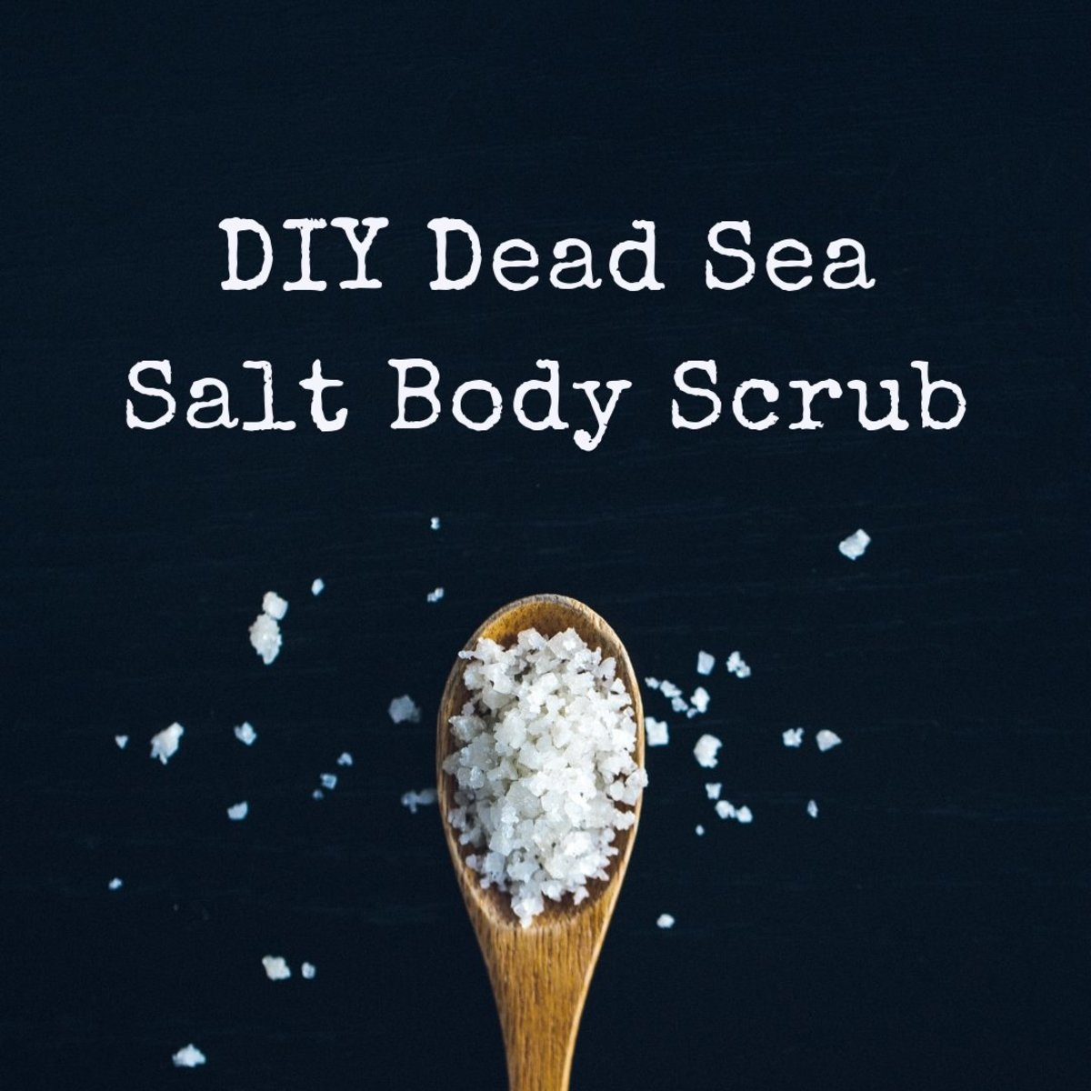 Learn how to make your own Dead Sea salt body scrub!