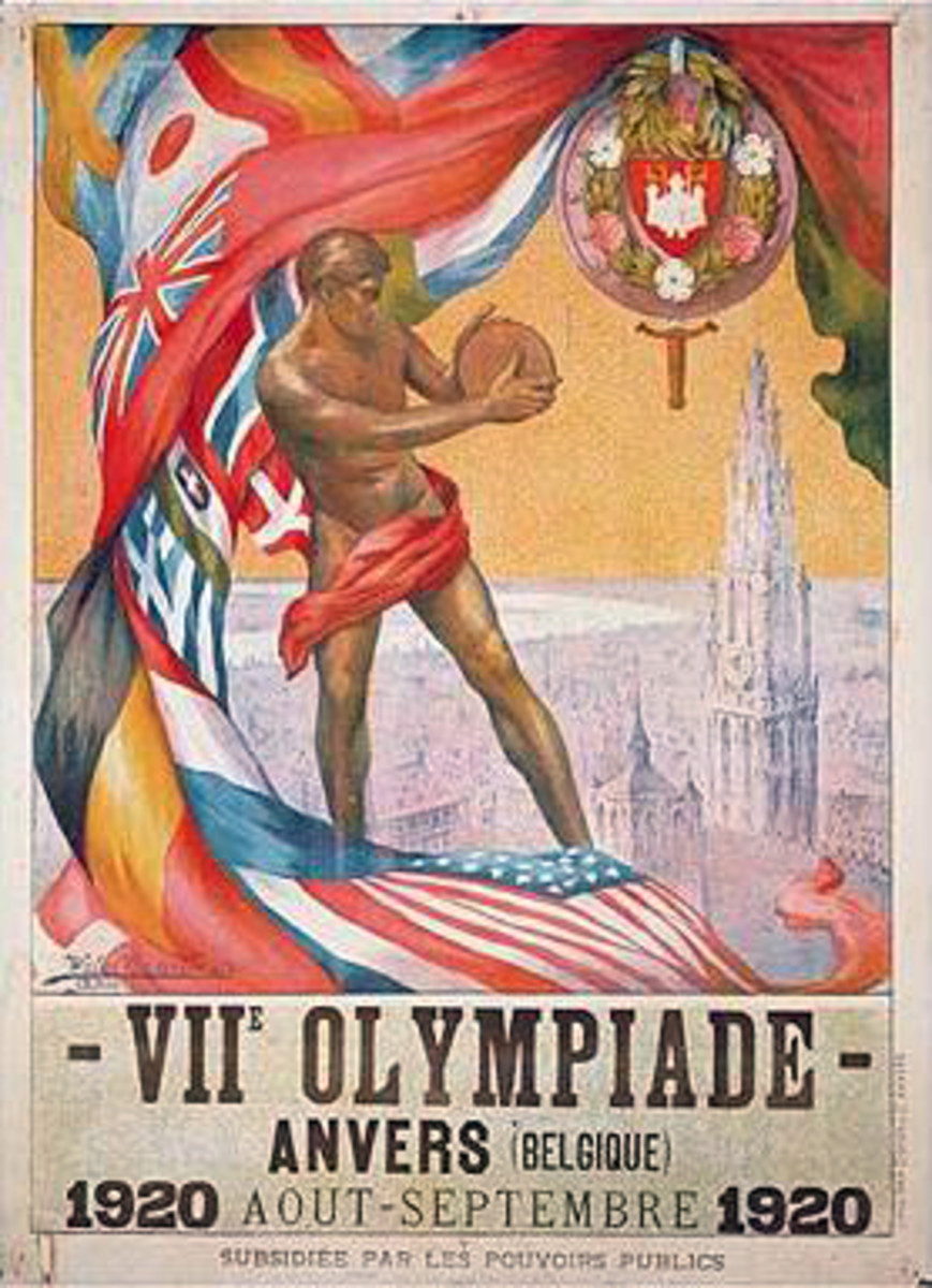 The 1920 Olympic Games in Antwerp, Belgium, were the first to display the five Olympic rings.