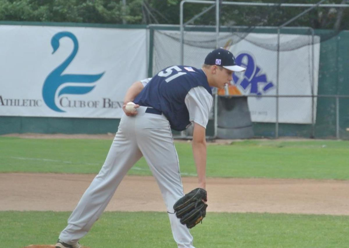 14-year old pitching on the larger baseball diamond