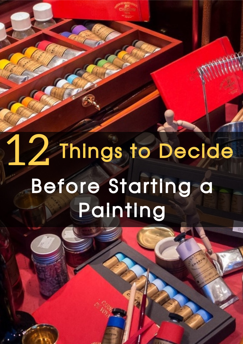 Learn the 12 things you need to plan before starting a painting. What to paint? How? With what techniques and styles? Learn how to take the most important decisions before and during the painting process.
