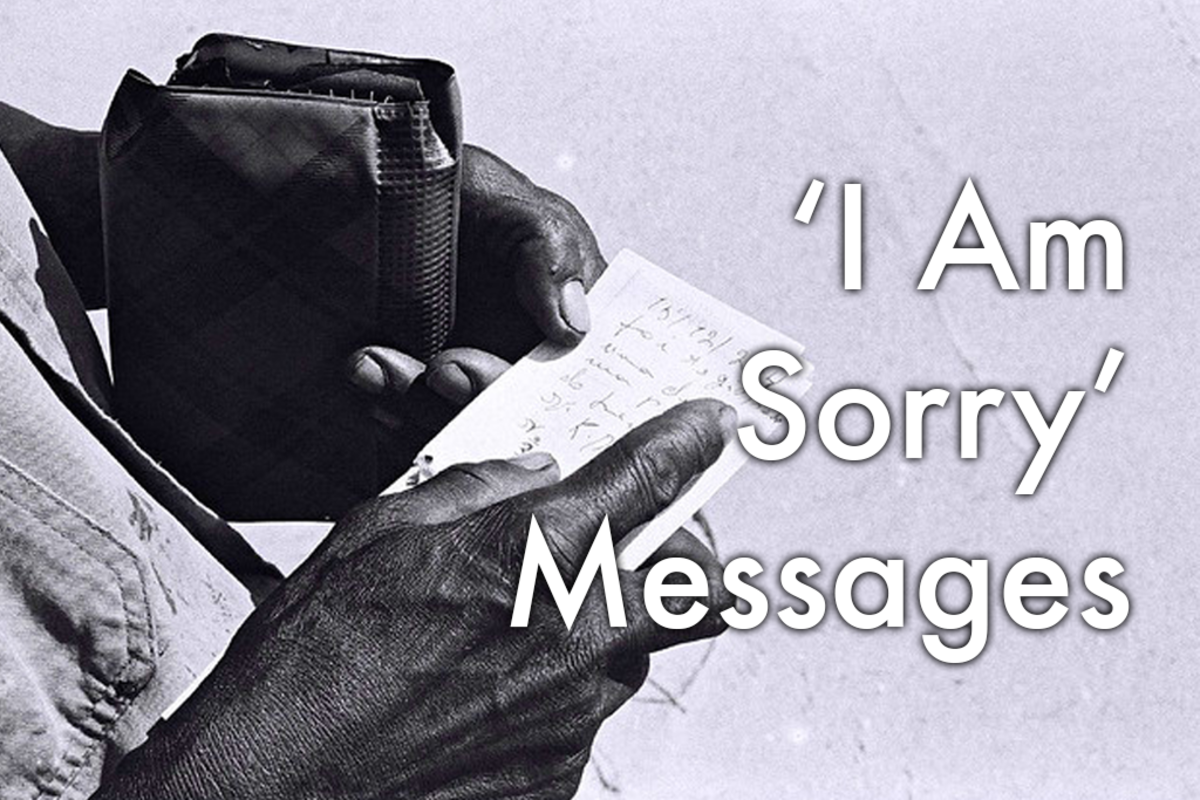 Ideas for how to say you're sorry.