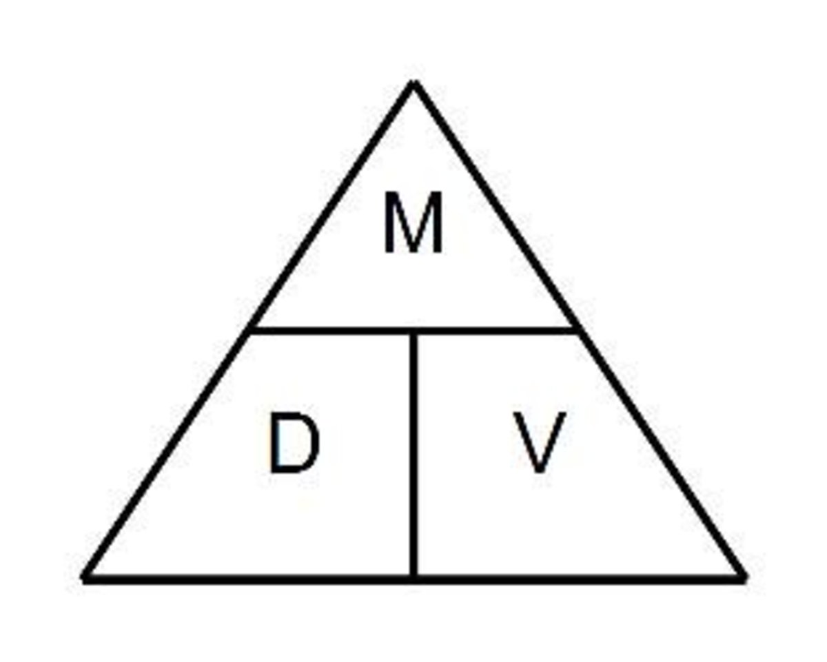 The Density, Mass and Volume Magic Triangle: How to Calculate Density of a Solid Shape