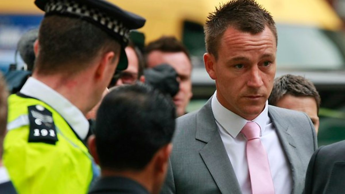 John Terry is a hated figure in England. Here he arrives for his trial to face accusations of racism.