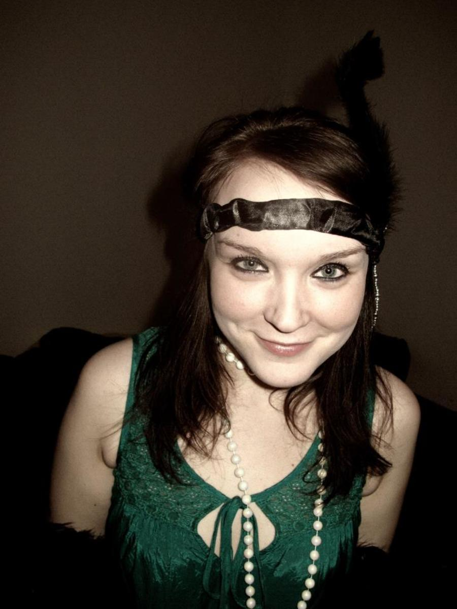 Me dressed as a flapper