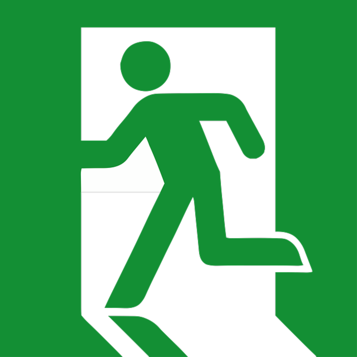 Walk, don't run towards the exit!