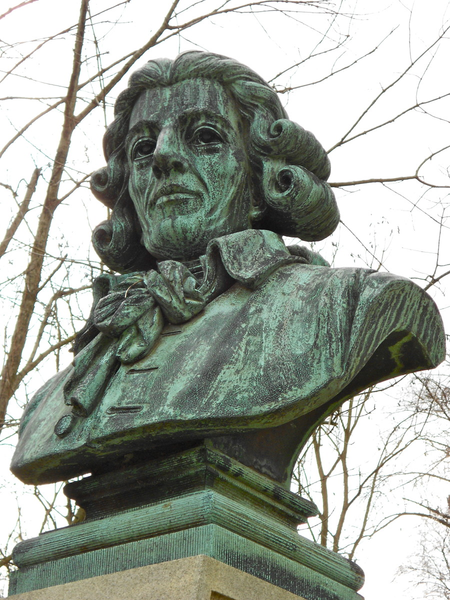 Bust of Joseph Haydn, father of the symphony.