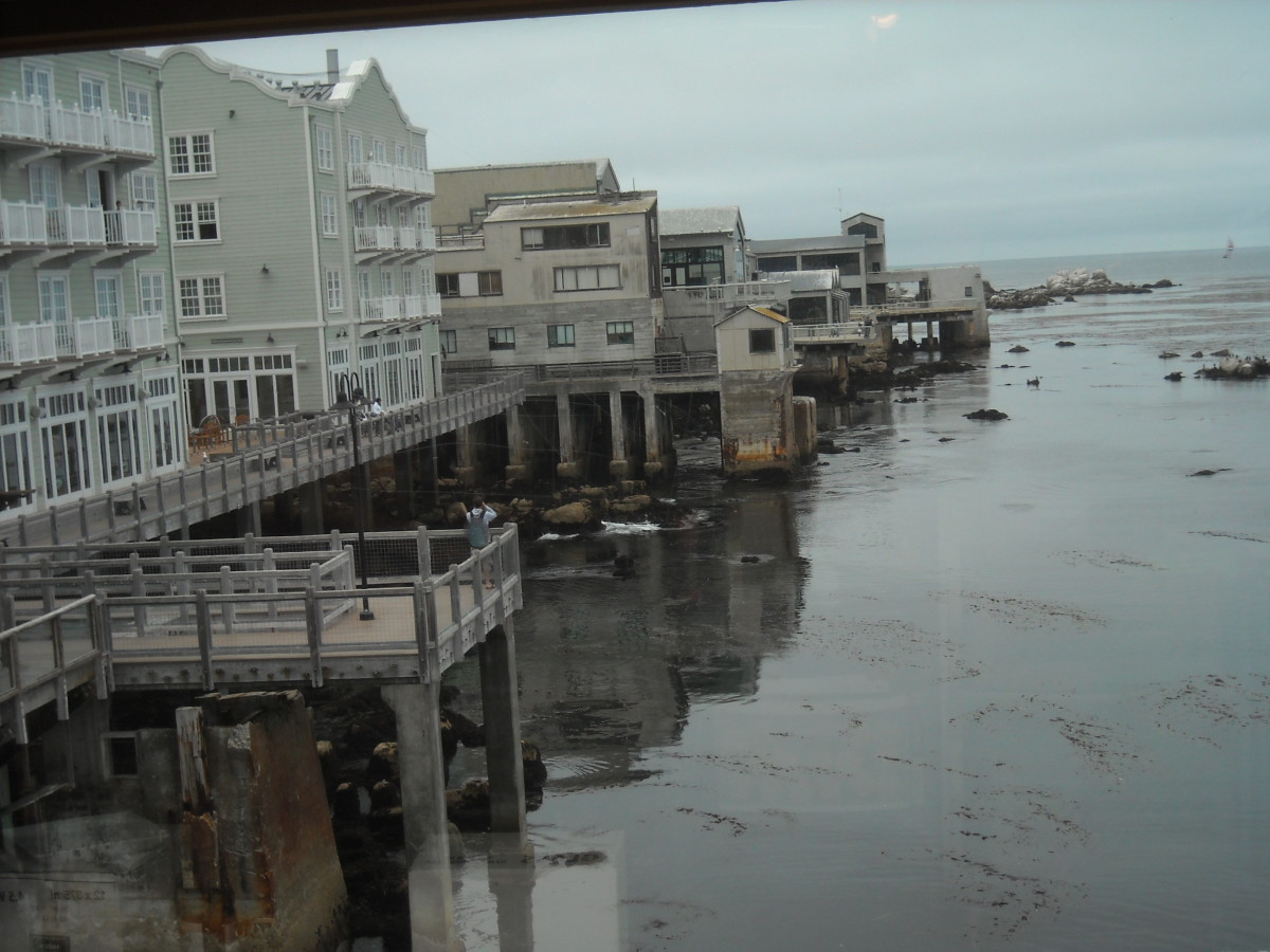 Monterey Bay, seaside, including some of the old and repurposed buildings which were once sardine canning factories.